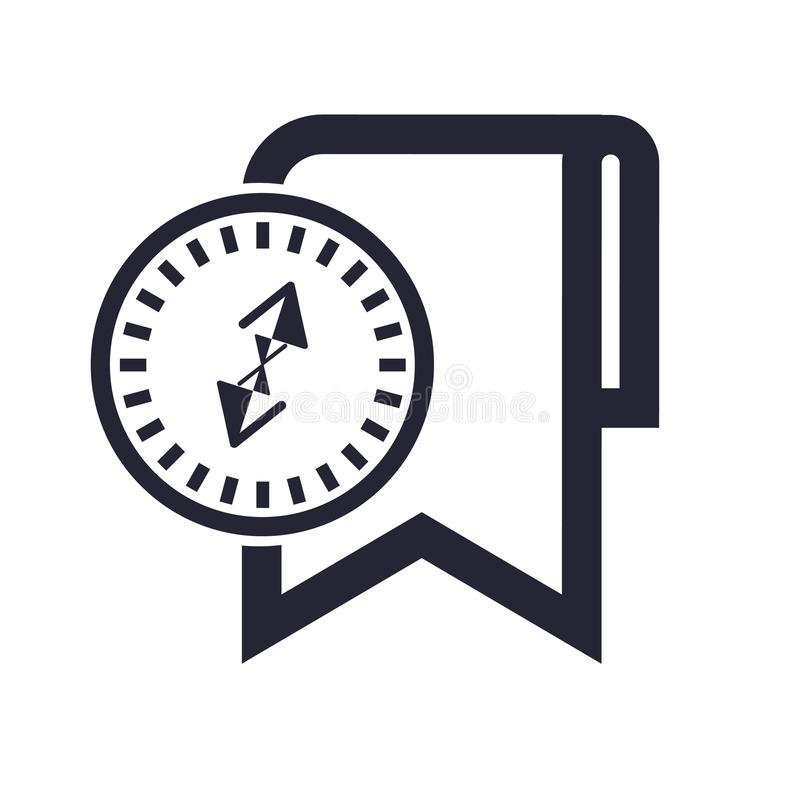 Tecken och symbol för bokmärkesymbolsvektor som isoleras på vit bakgrund, bokmärkelogobegrepp stock illustrationer