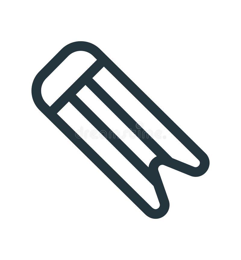 Tecken och symbol för bokmärkesymbolsvektor som isoleras på vit bakgrund, bokmärkelogobegrepp royaltyfri illustrationer