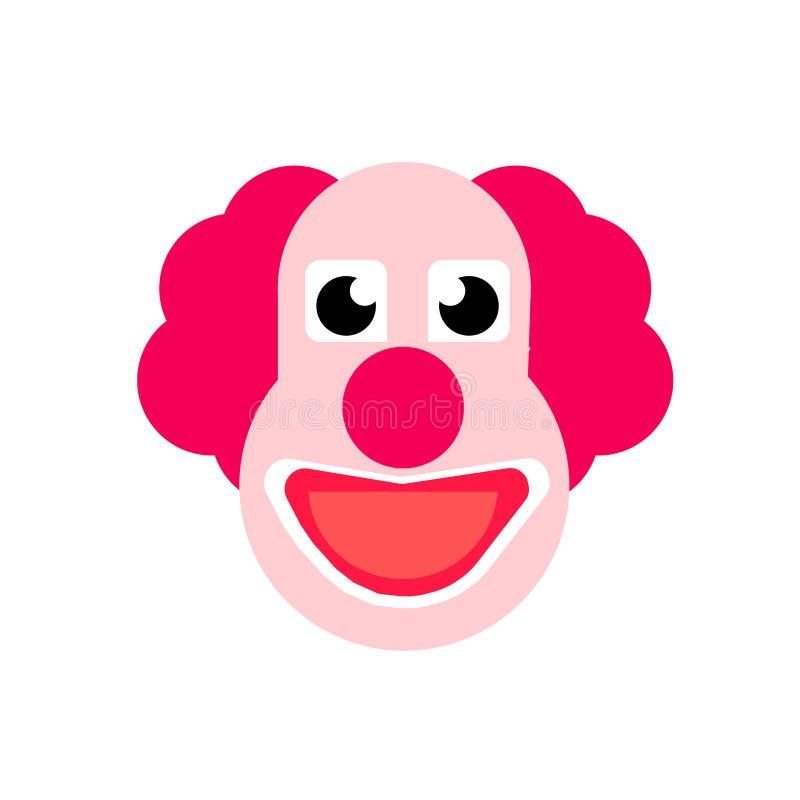 Tecken och symbol för clownsymbolsvektor som isoleras på vit bakgrund, clownlogobegrepp royaltyfri illustrationer