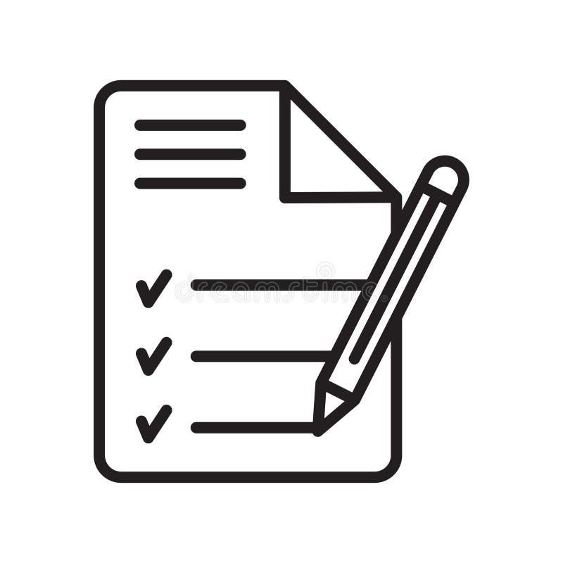 Tecken och symbol för dagordningsymbolsvektor som isoleras på vit bakgrund vektor illustrationer