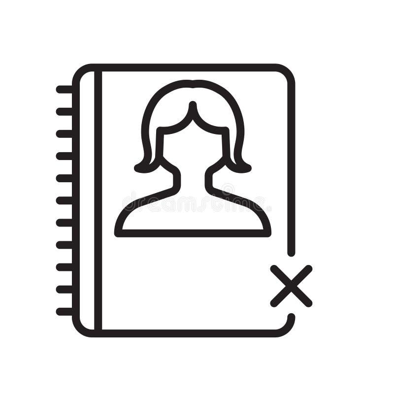 Tecken och symbol för dagordningsymbolsvektor som isoleras på vit bakgrund, dagordninglogobegrepp, översiktssymbol, linjärt tecke stock illustrationer