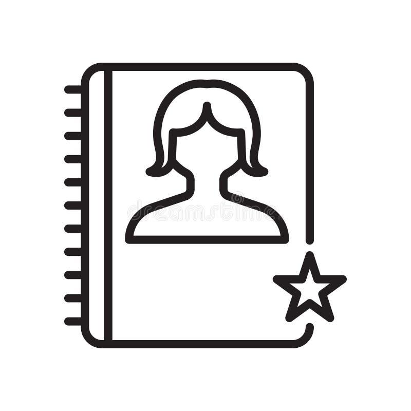 Tecken och symbol för dagordningsymbolsvektor som isoleras på vit bakgrund, dagordninglogobegrepp, översiktssymbol, linjärt tecke royaltyfri illustrationer