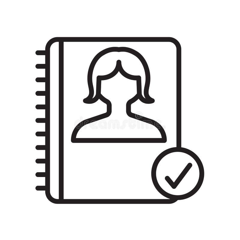 Tecken och symbol för dagordningsymbolsvektor som isoleras på vit bakgrund, dagordninglogobegrepp, översiktssymbol, linjärt tecke vektor illustrationer