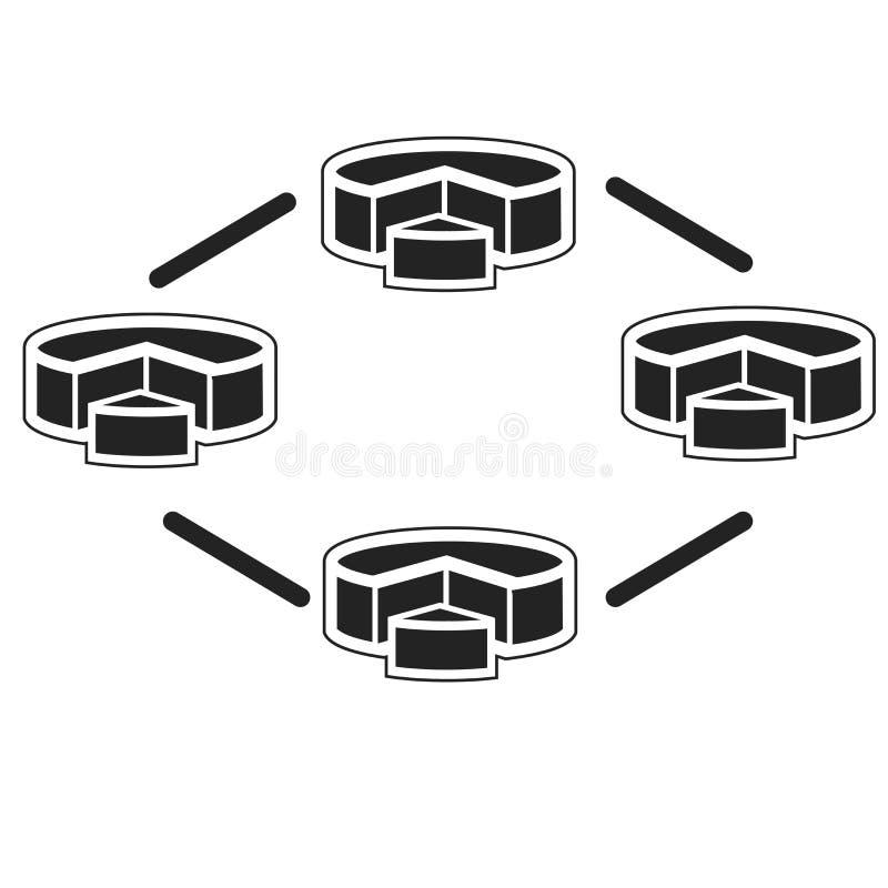 Tecken och symbol för diagramsymbolsvektor som isoleras på vit bakgrund, diagramlogobegrepp vektor illustrationer