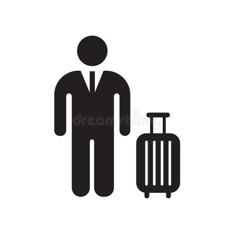 Tecken och symbol för flygplatssymbolsvektor som isoleras på vit bakgrund, flygplatslogobegrepp royaltyfri illustrationer