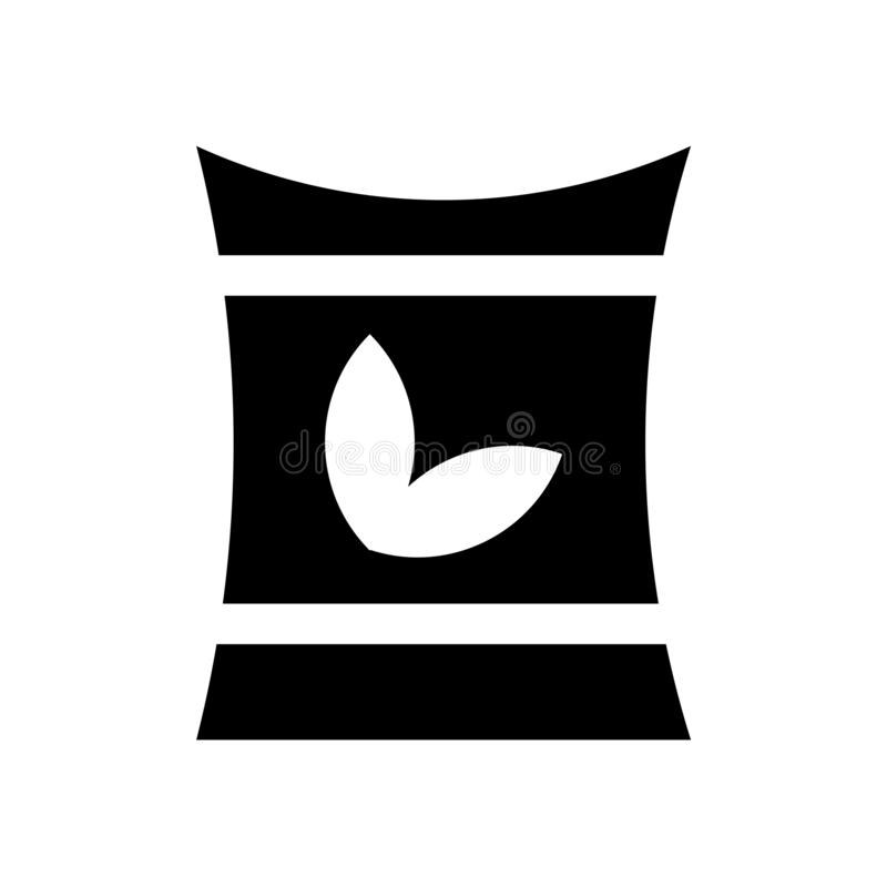 Tecken och symbol för gödningsmedelsymbolsvektor som isoleras på vit bakgrund, gödningsmedellogobegrepp royaltyfri illustrationer