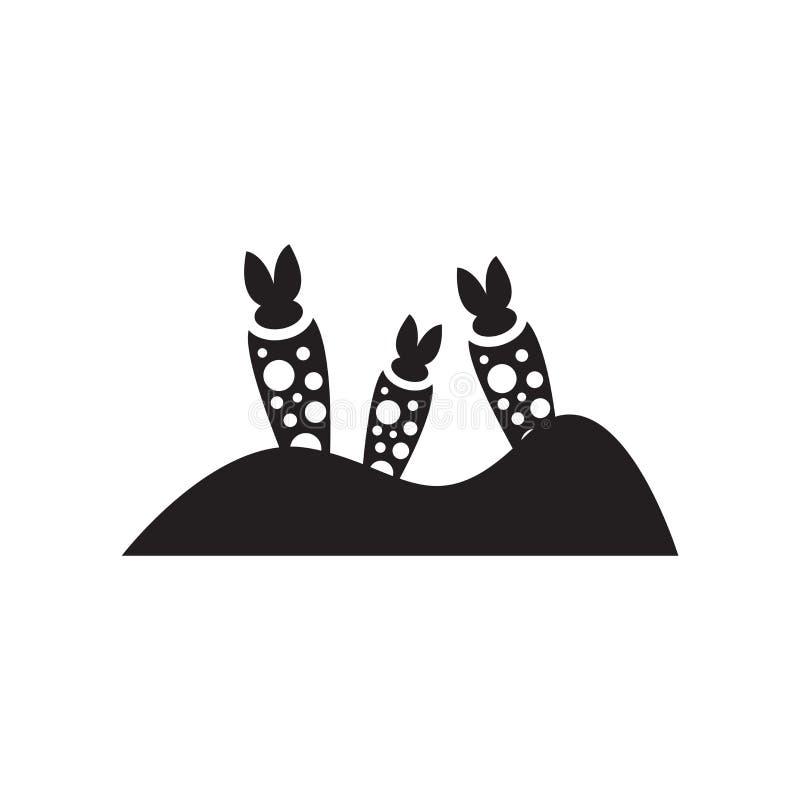 Tecken och symbol för grönsaksymbolsvektor som isoleras på den vita backgroen stock illustrationer