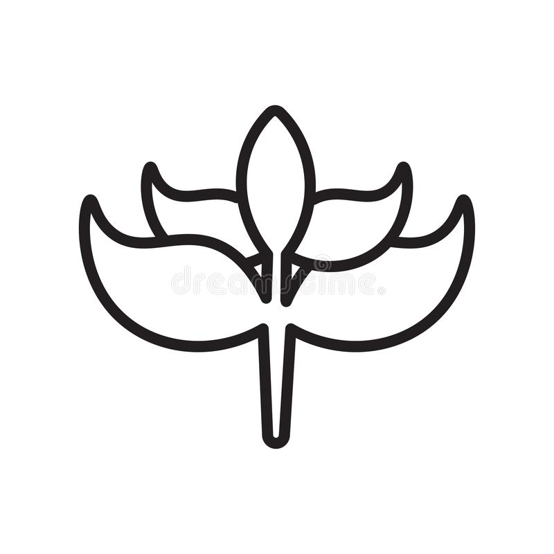 Tecken och symbol för groddsymbolsvektor som isoleras på vit bakgrund, groddlogobegrepp, översiktssymbol, linjärt tecken, översik vektor illustrationer