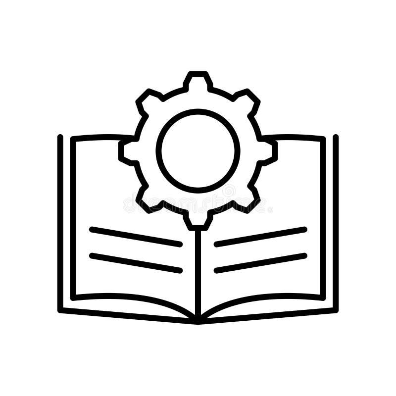 Tecken och symbol för handboksymbolsvektor som isoleras på vit bakgrund, handboklogobegrepp vektor illustrationer