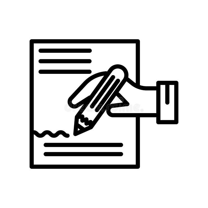 Tecken och symbol för handstilsymbolsvektor som isoleras på vit bakgrund vektor illustrationer