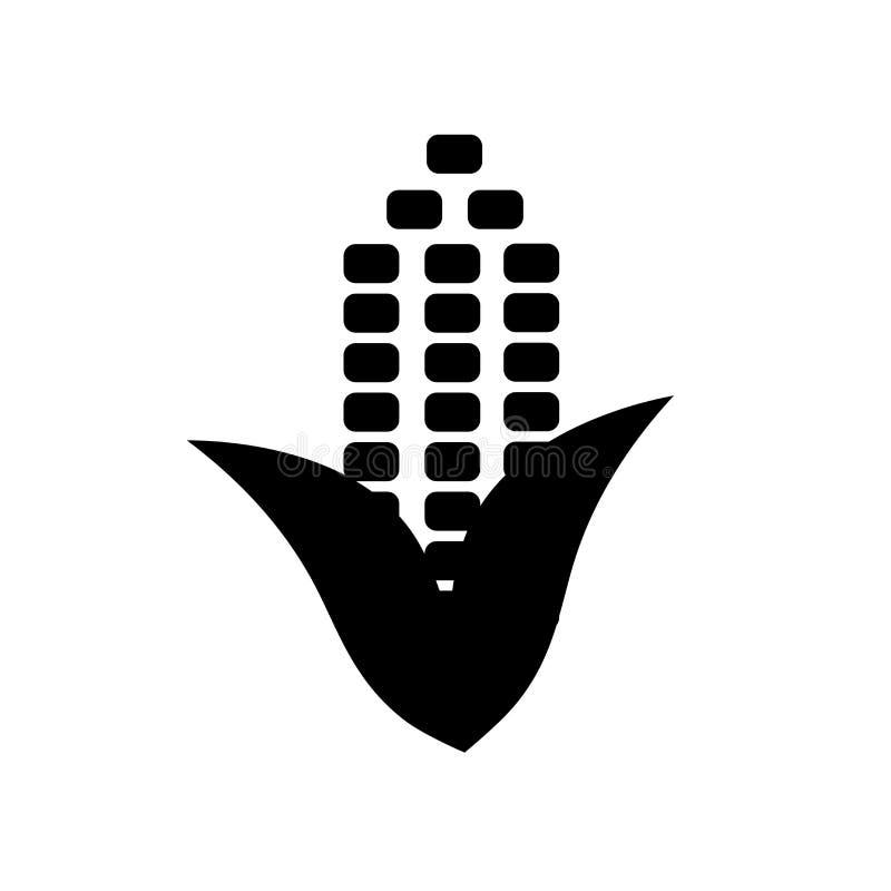 Tecken och symbol för havresymbolsvektor som isoleras på vit bakgrund, havrelogobegrepp stock illustrationer
