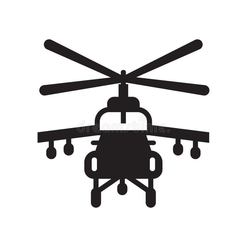 Tecken och symbol för helikoptersymbolsvektor på den vita backgroen vektor illustrationer