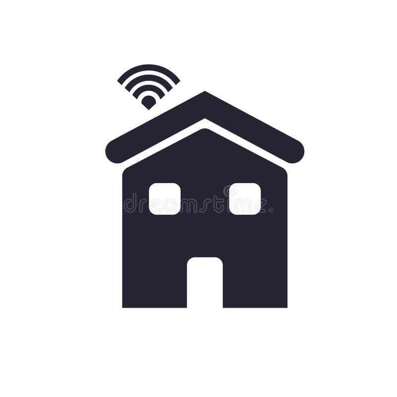 Tecken och symbol för hussymbolsvektor som isoleras på vit bakgrund, huslogobegrepp stock illustrationer
