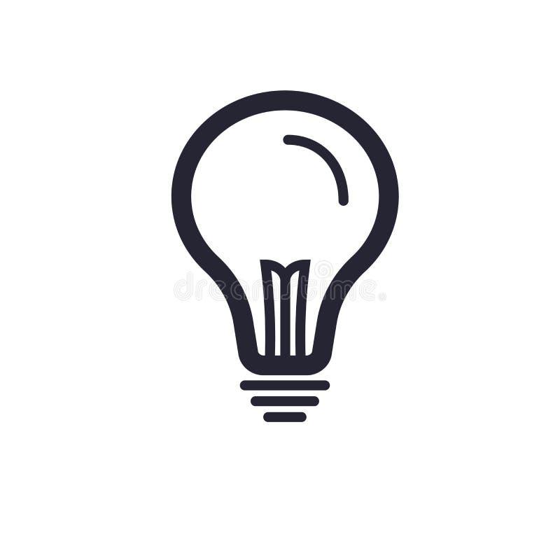 Tecken och symbol för idésymbolsvektor som isoleras på vit bakgrund, idélogobegrepp vektor illustrationer