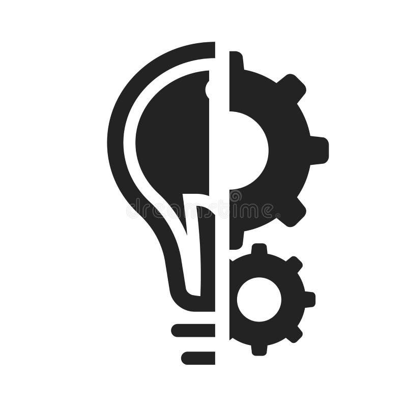 Tecken och symbol för idésymbolsvektor som isoleras på vit bakgrund, idélogobegrepp stock illustrationer