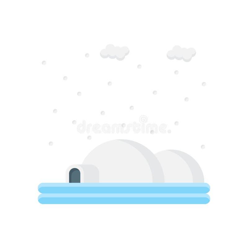 Tecken och symbol för igloosymbolsvektor som isoleras på vit bakgrund stock illustrationer