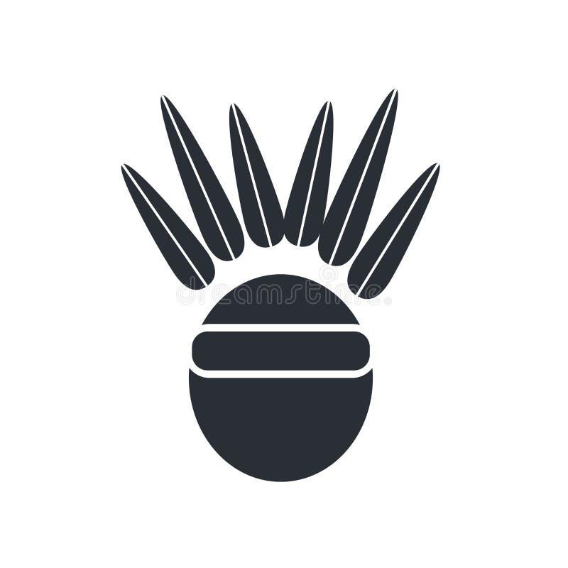 Tecken och symbol för indiansymbolsvektor som isoleras på vita lodisar stock illustrationer