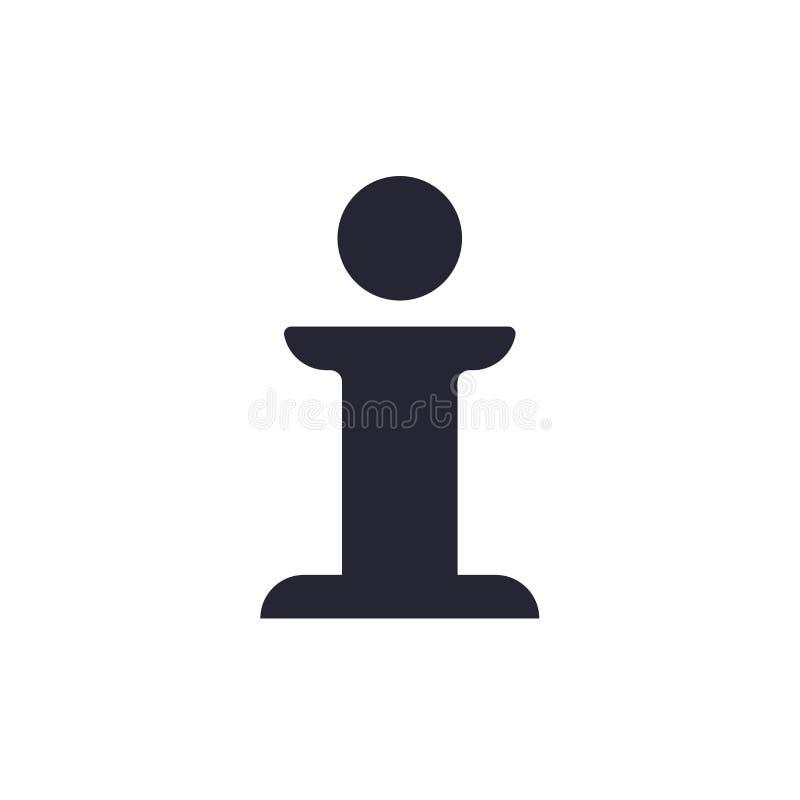 Tecken och symbol för informationssymbolsvektor som isoleras på vit bakgrund, informationslogobegrepp royaltyfri illustrationer