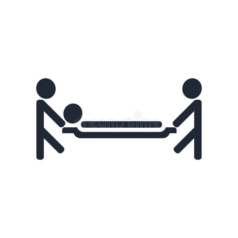 Tecken och symbol för inläggning på sjukhussymbolsvektor som isoleras på vita lodisar royaltyfri illustrationer