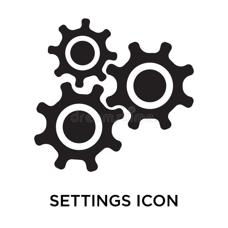 Tecken och symbol för inställningssymbolsvektor som isoleras på vit backgroun stock illustrationer