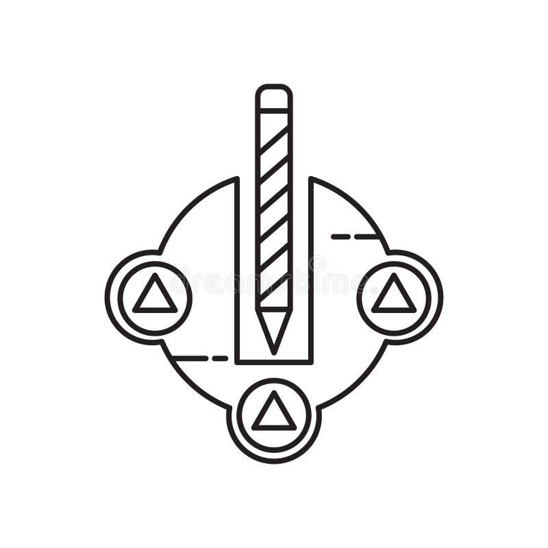 Tecken och symbol för intelligenssymbolsvektor som isoleras på vit bakgrund, intelligenslogobegrepp stock illustrationer