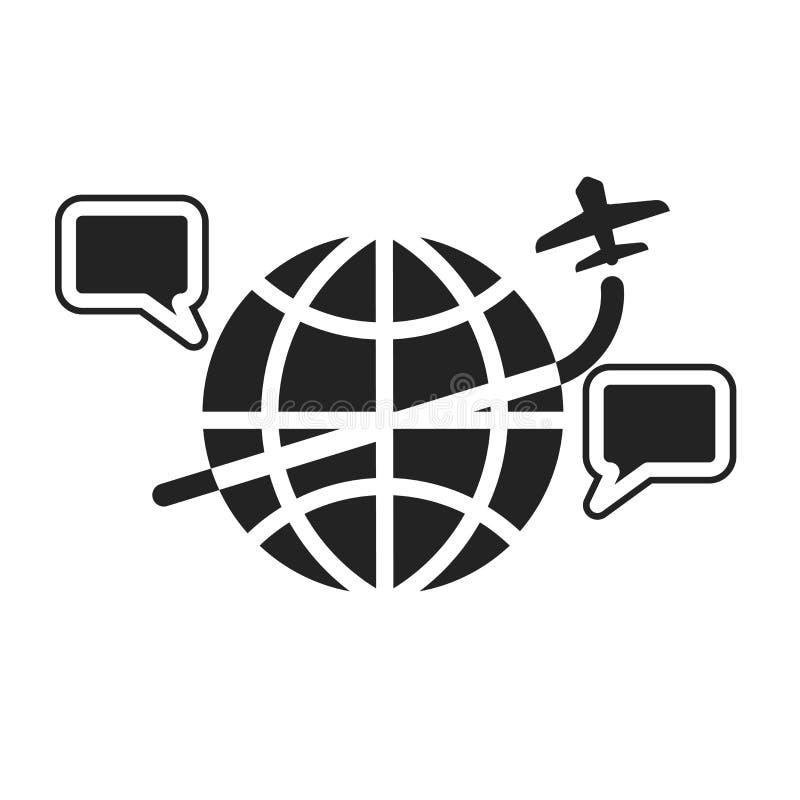 Tecken och symbol för internetsymbolsvektor som isoleras på vit bakgrund, internetlogobegrepp royaltyfri illustrationer