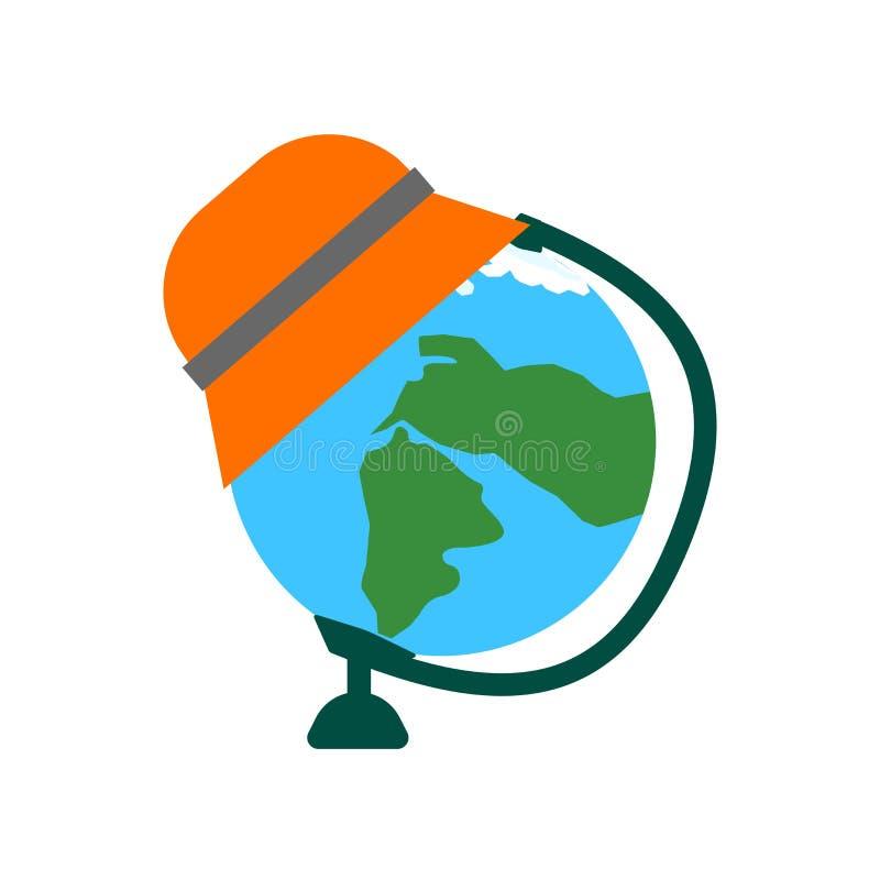 Tecken och symbol för jordklotsymbolsvektor som isoleras på vit bakgrund, jordklotlogobegrepp stock illustrationer