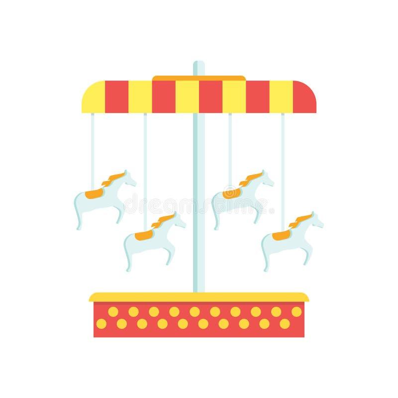 Tecken och symbol för karusellsymbolsvektor som isoleras på vit backgroun stock illustrationer