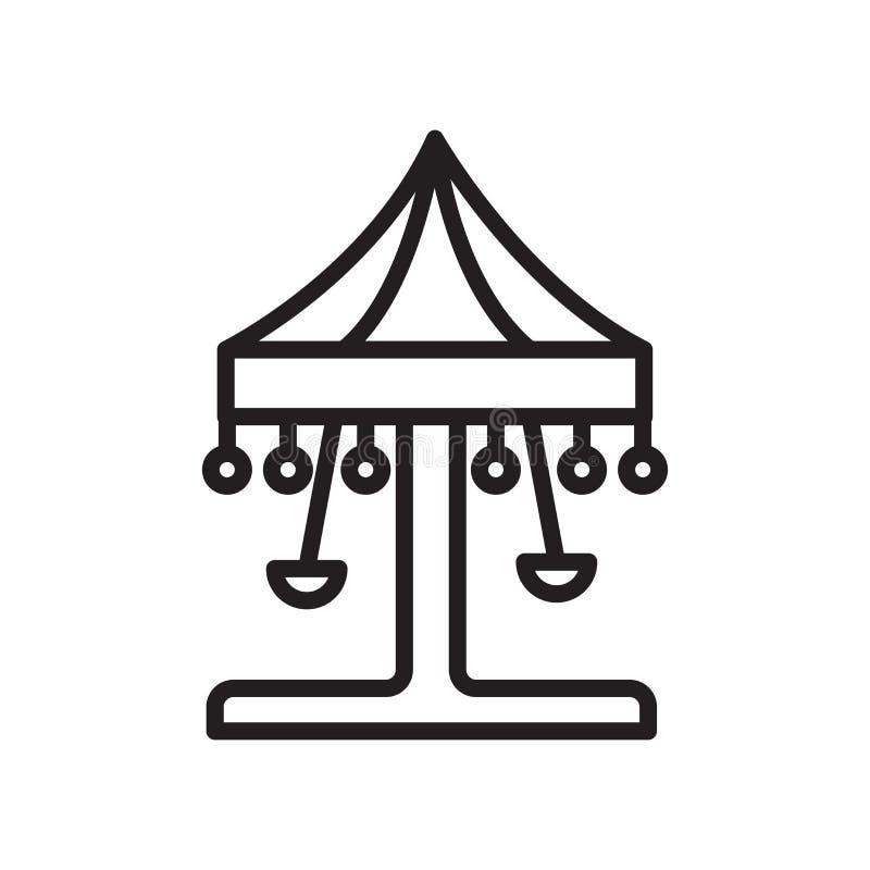 Tecken och symbol för karusellsymbolsvektor som isoleras på vit backgroun royaltyfri illustrationer