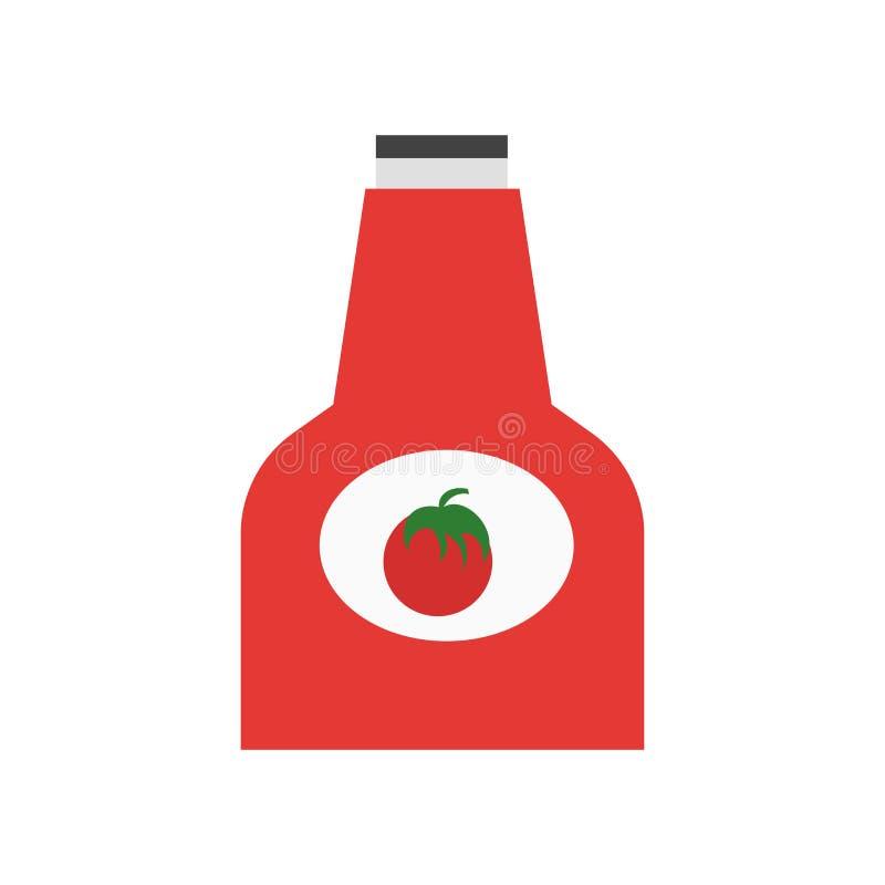 Tecken och symbol för ketchupsymbolsvektor som isoleras på vit bakgrund, ketchuplogobegrepp royaltyfri illustrationer