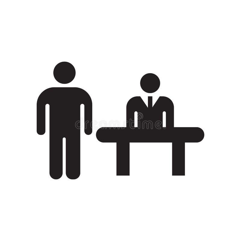Tecken och symbol för klientsymbolsvektor som isoleras på vit bakgrund, klientlogobegrepp royaltyfri illustrationer