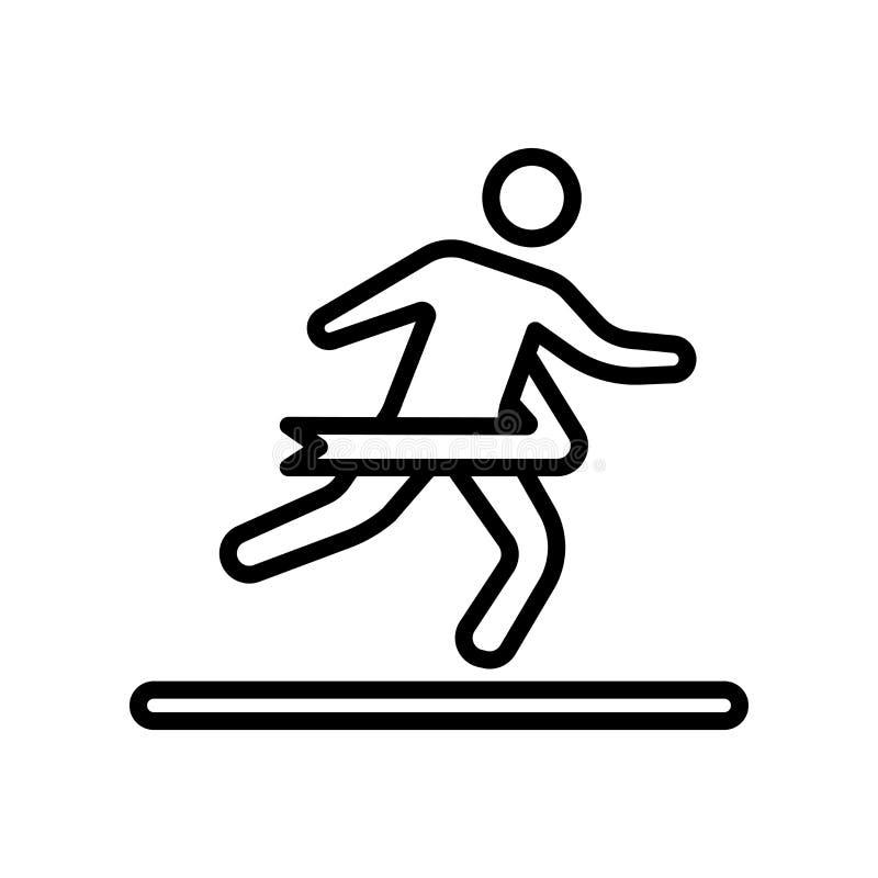 Tecken och symbol för konkurrenssymbolsvektor som isoleras på vit backgr stock illustrationer