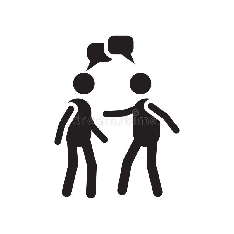 Tecken och symbol för konversationsymbolsvektor som isoleras på vit bakgrund, konversationlogobegrepp royaltyfri illustrationer