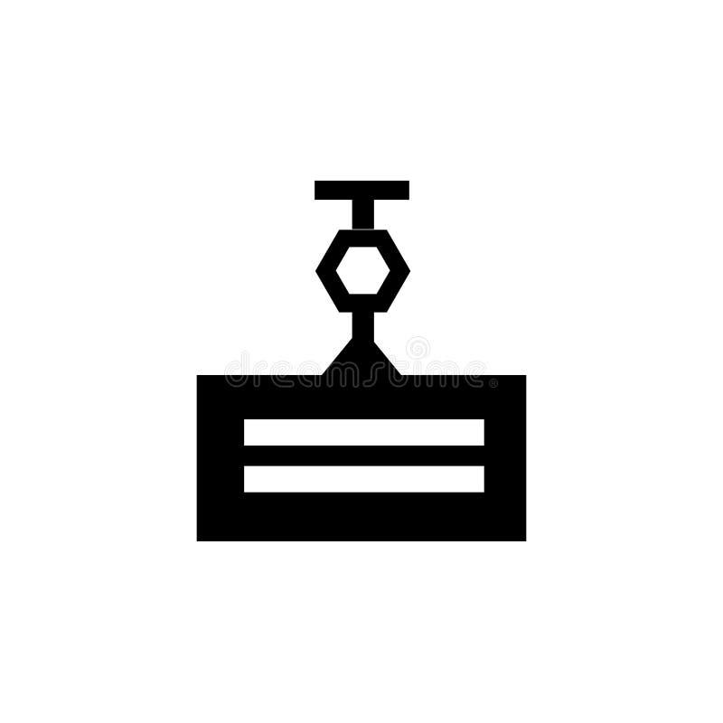 Tecken och symbol för kransymbolsvektor som isoleras på vit bakgrund, kranlogobegrepp vektor illustrationer