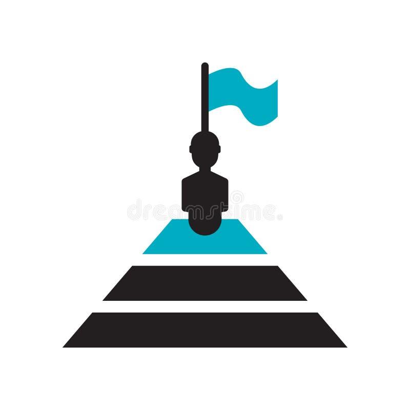 tecken och symbol för ledarskapsymbolsvektor som isoleras på vit bakgrund, ledarskaplogobegrepp stock illustrationer