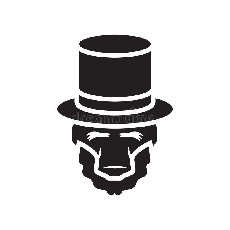 Tecken och symbol för Lincoln symbolsvektor som isoleras på vit bakgrund royaltyfri illustrationer