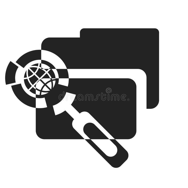 Tecken och symbol för mappsymbolsvektor som isoleras på vit bakgrund, mapplogobegrepp stock illustrationer
