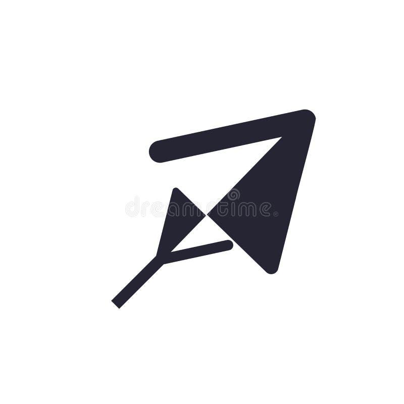 Tecken och symbol för markörsymbolsvektor som isoleras på vit bakgrund, markörlogobegrepp royaltyfri illustrationer