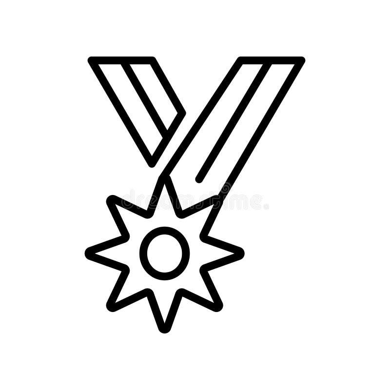 Tecken och symbol för medaljongsymbolsvektor som isoleras på den vita backgrouen royaltyfri illustrationer