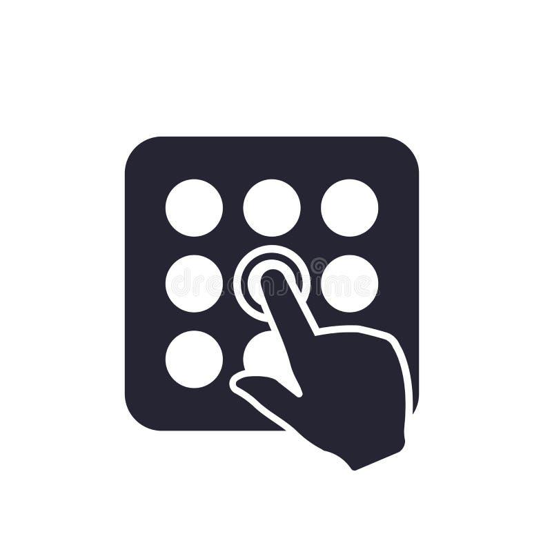 Tecken och symbol för menysymbolsvektor som isoleras på vit bakgrund, menylogobegrepp royaltyfri illustrationer