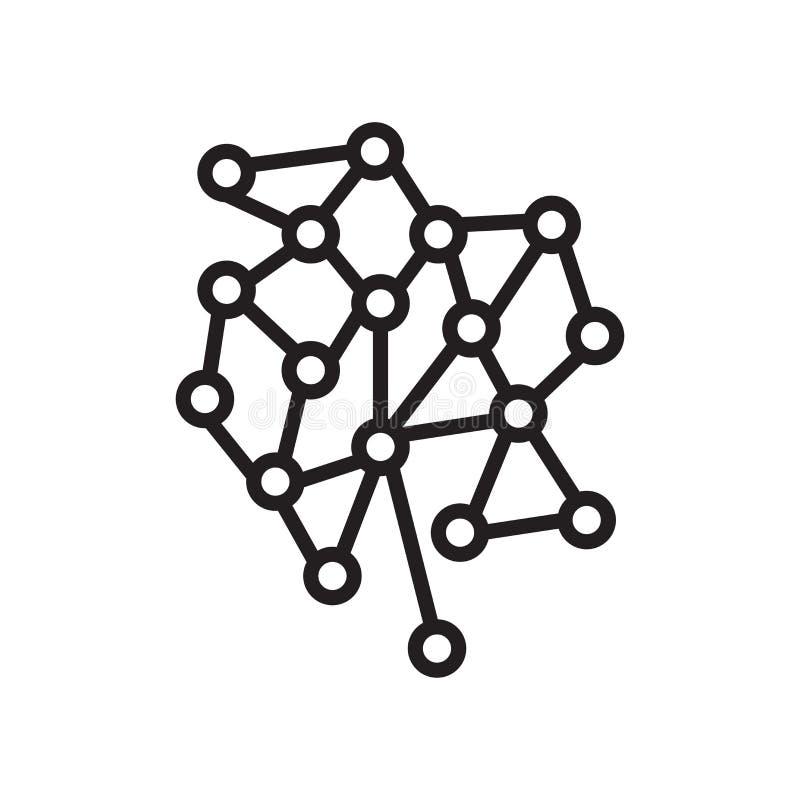 Tecken och symbol för molekylsymbolsvektor som isoleras på vit backgroun vektor illustrationer