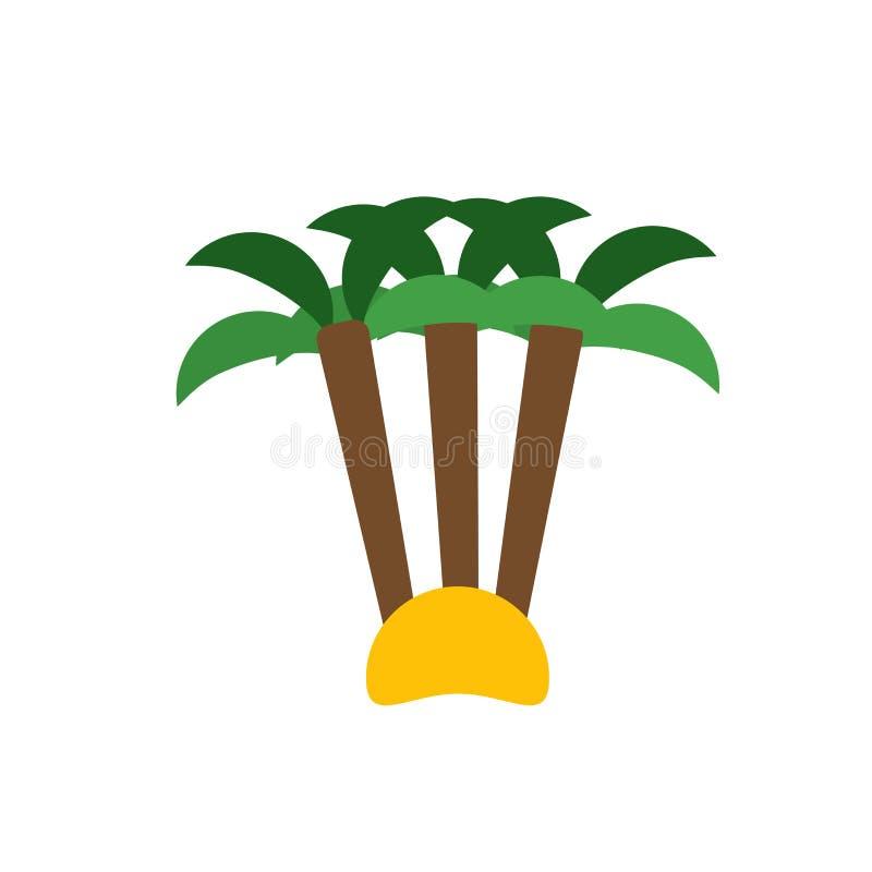 Tecken och symbol för palmträdsymbolsvektor som isoleras på vit bakgrund, palmträdlogobegrepp vektor illustrationer