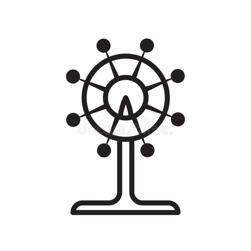 Tecken och symbol för pariserhjulsymbolsvektor som isoleras på vit backg vektor illustrationer