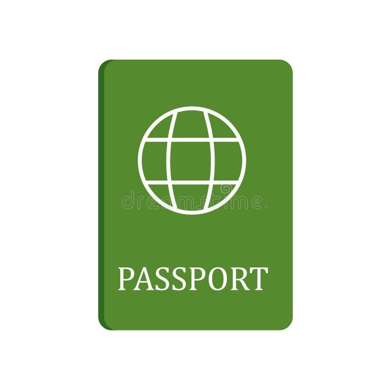 Tecken och symbol för passsymbolsvektor som isoleras på vit bakgrund, passlogobegrepp royaltyfri illustrationer
