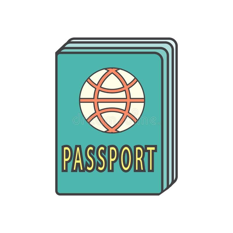 Tecken och symbol för passsymbolsvektor som isoleras på vit bakgrund, passlogobegrepp stock illustrationer
