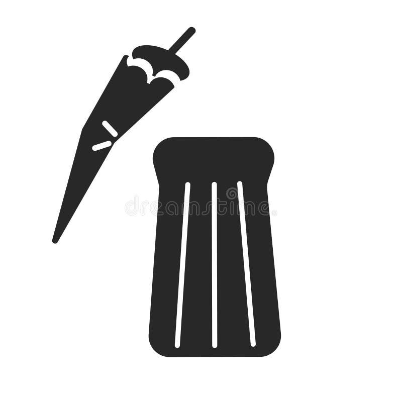 Tecken och symbol för pepparsymbolsvektor som isoleras på vit bakgrund, pepparlogobegrepp stock illustrationer