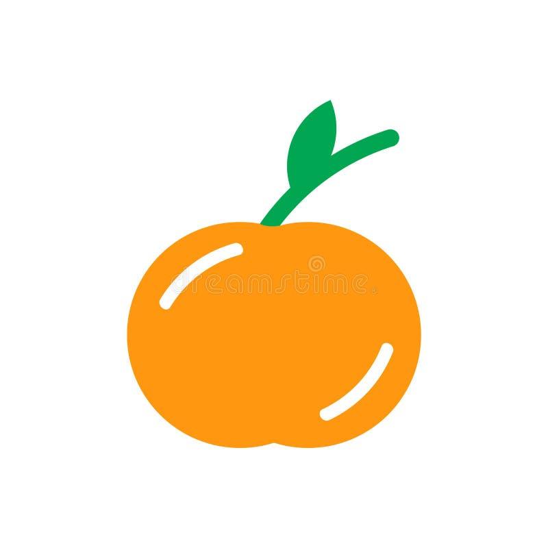 Tecken och symbol för persikasymbolsvektor som isoleras på vit bakgrund stock illustrationer