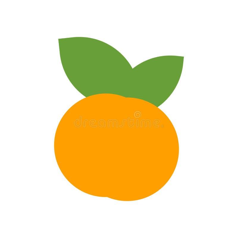 Tecken och symbol för persikasymbolsvektor som isoleras på vit bakgrund, persikalogobegrepp stock illustrationer