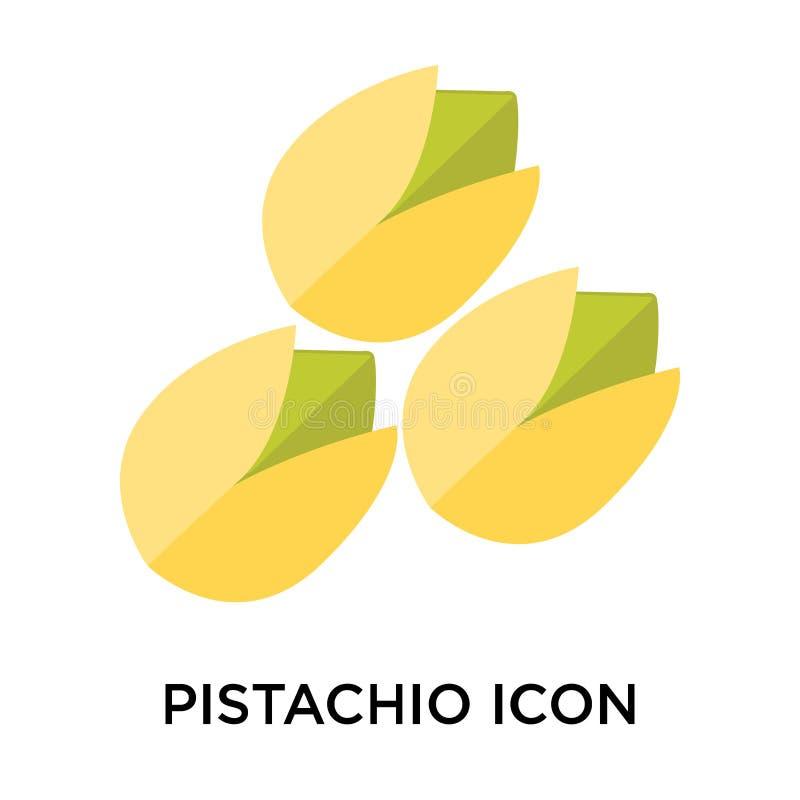 Tecken och symbol för pistaschsymbolsvektor som isoleras på den vita backgrouen stock illustrationer