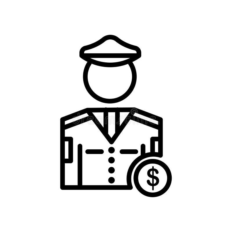 Tecken och symbol för polissymbolsvektor som isoleras på vit bakgrund vektor illustrationer